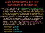 sutra satipatthana the four foundations of mindfulness
