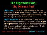 the eightfold path the dharma path