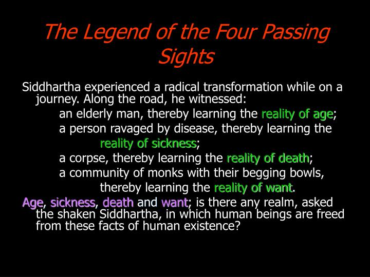 The Legend of the Four Passing Sights