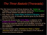 the three baskets theravada