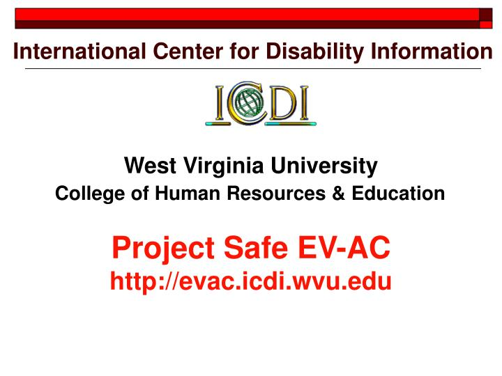 International Center for Disability Information