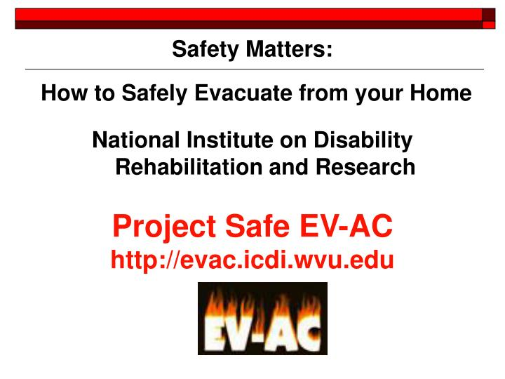 How to Safely Evacuate from your Home