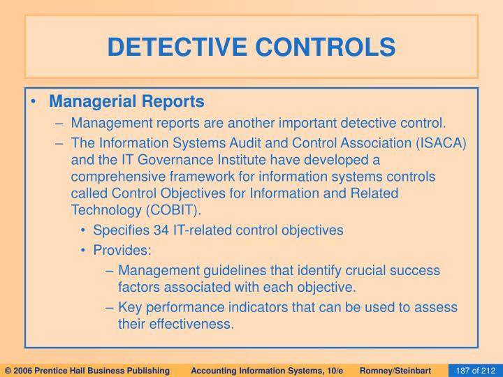 DETECTIVE CONTROLS