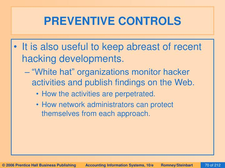 PREVENTIVE CONTROLS