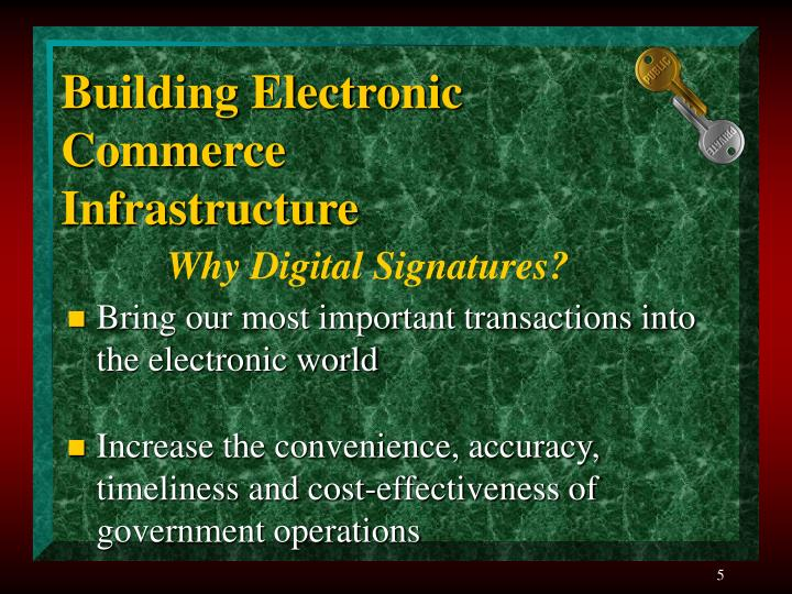 Building Electronic Commerce Infrastructure