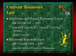 current tennessee law
