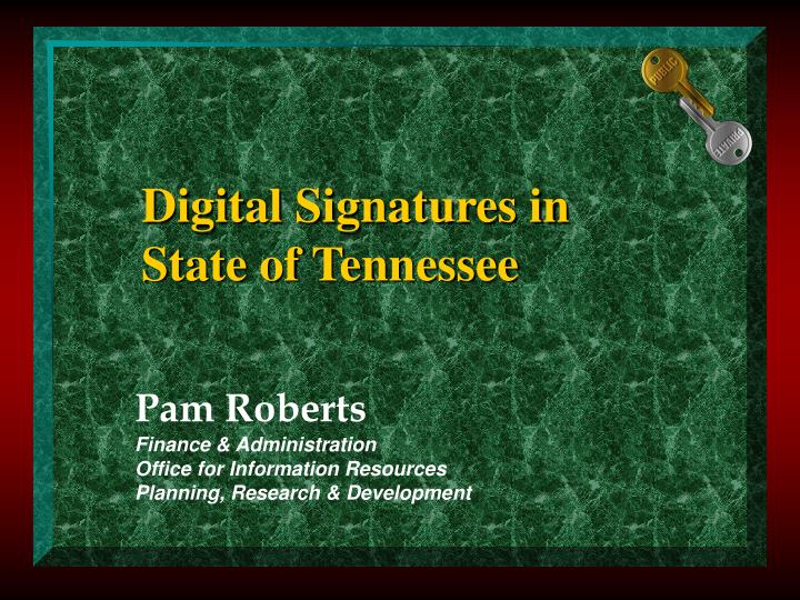 digital signatures in state of tennessee