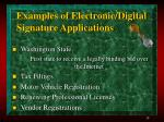 examples of electronic digital signature applications