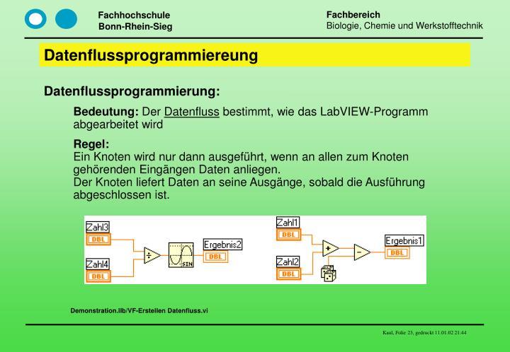 Datenflussprogrammiereung