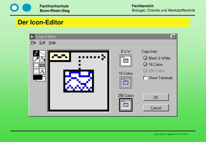Der Icon-Editor