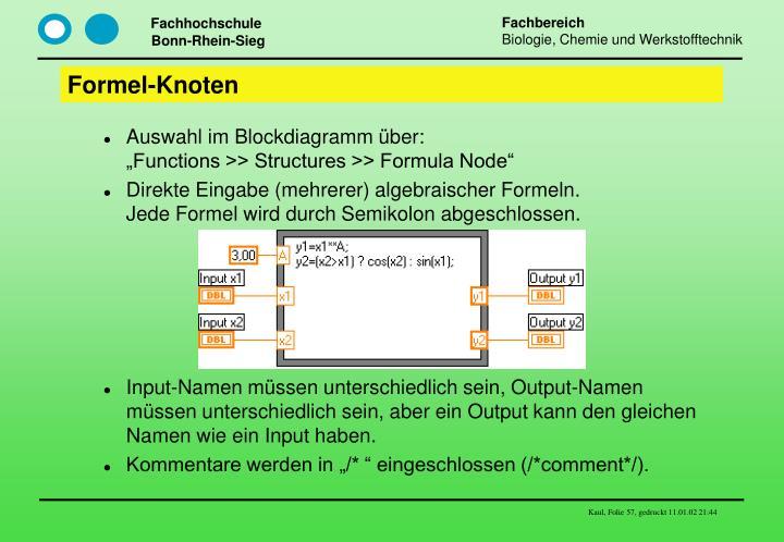 Formel-Knoten