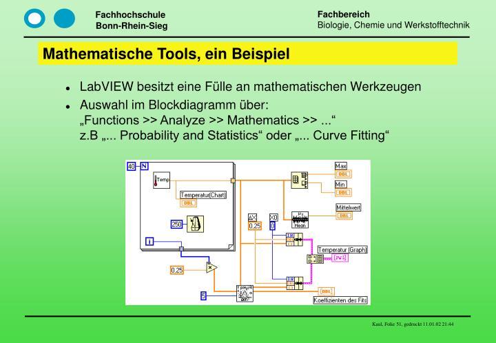 Mathematische Tools, ein Beispiel