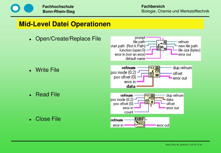 Mid-Level Datei Operationen