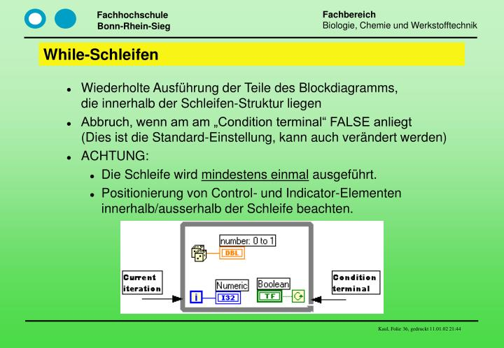 While-Schleifen