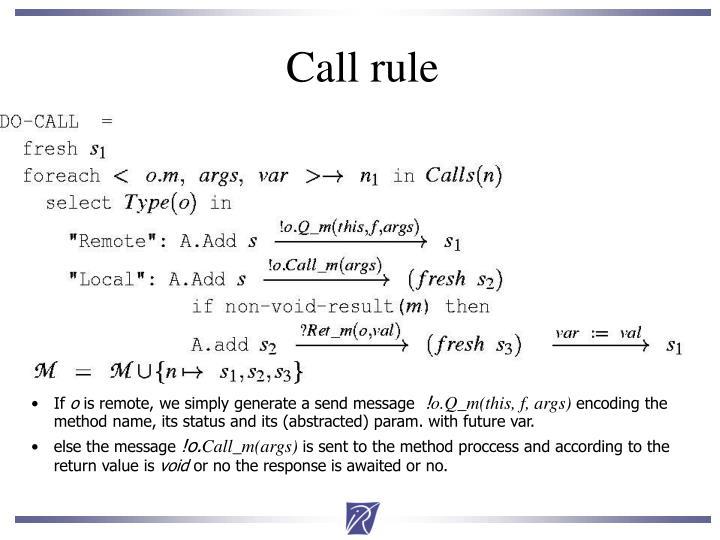Call rule