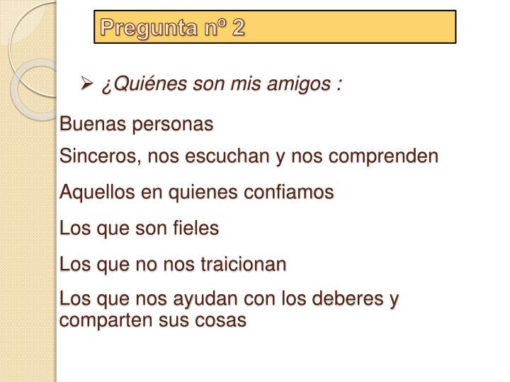 Pregunta nº 2