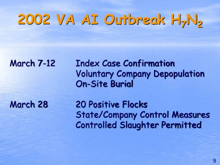 2002 VA AI Outbreak H