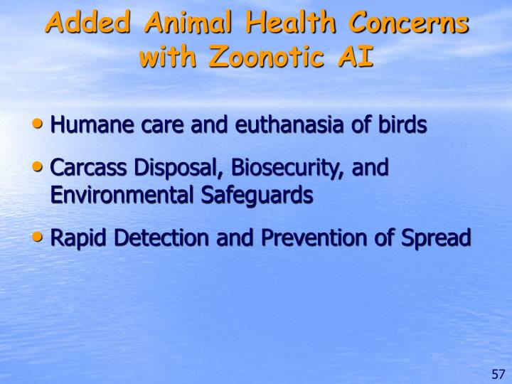 Added Animal Health Concerns with Zoonotic AI