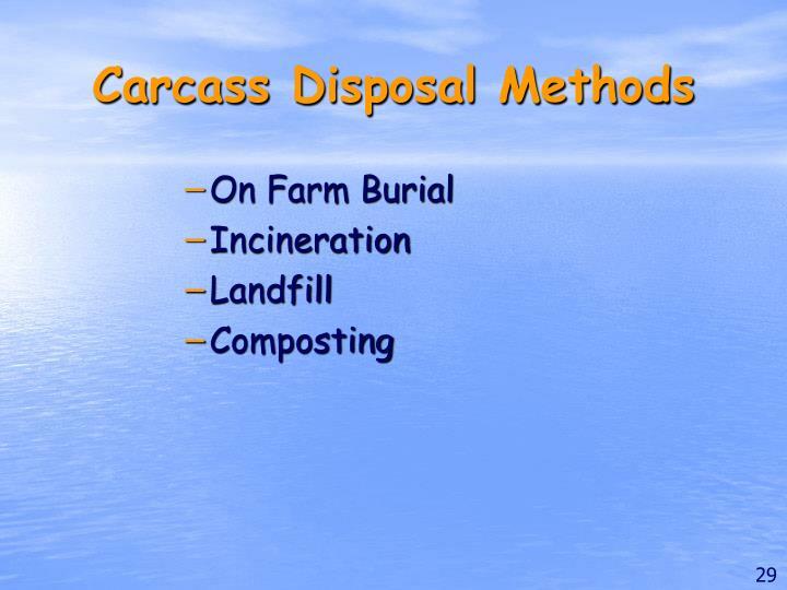 Carcass Disposal Methods