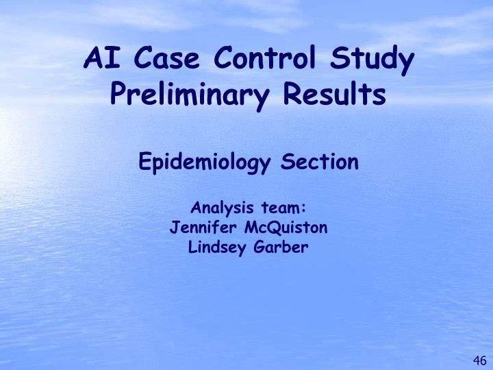 AI Case Control Study