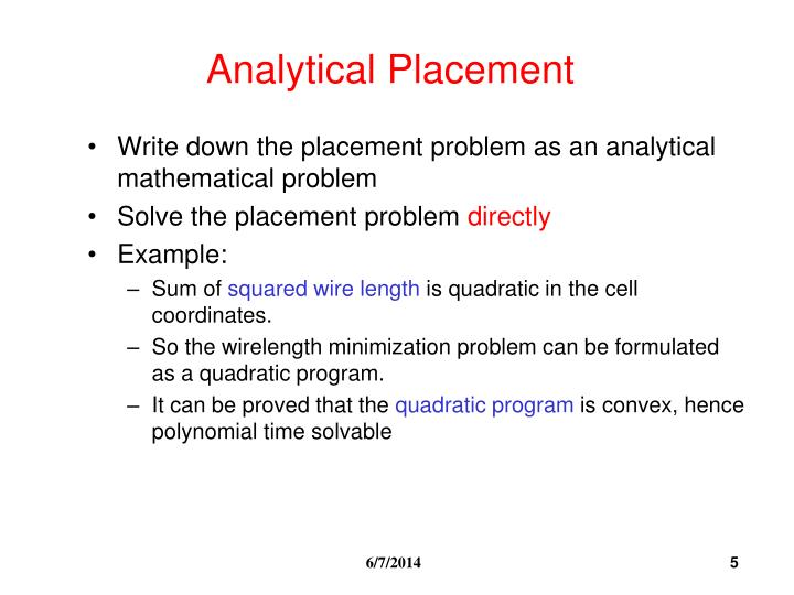 Analytical Placement