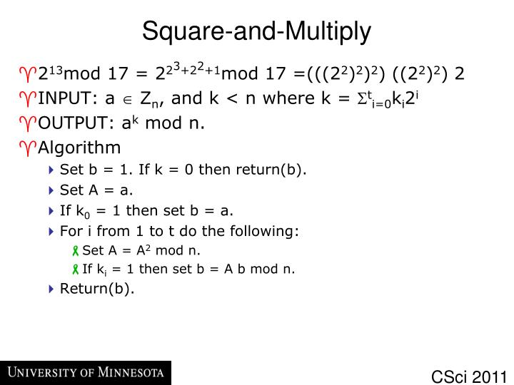 Square-and-Multiply
