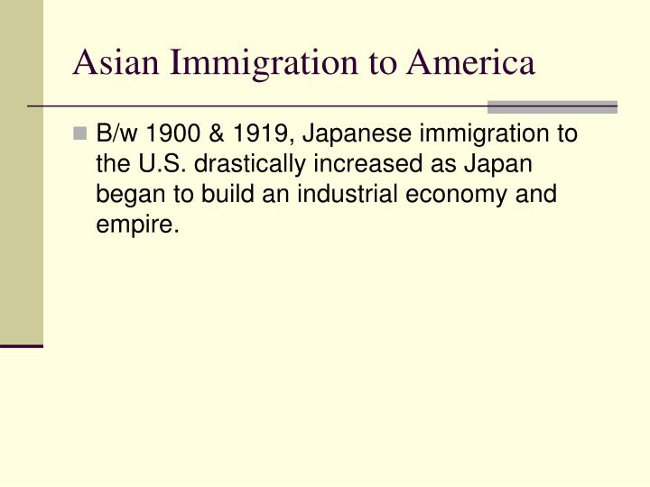 Asian Immigration to America