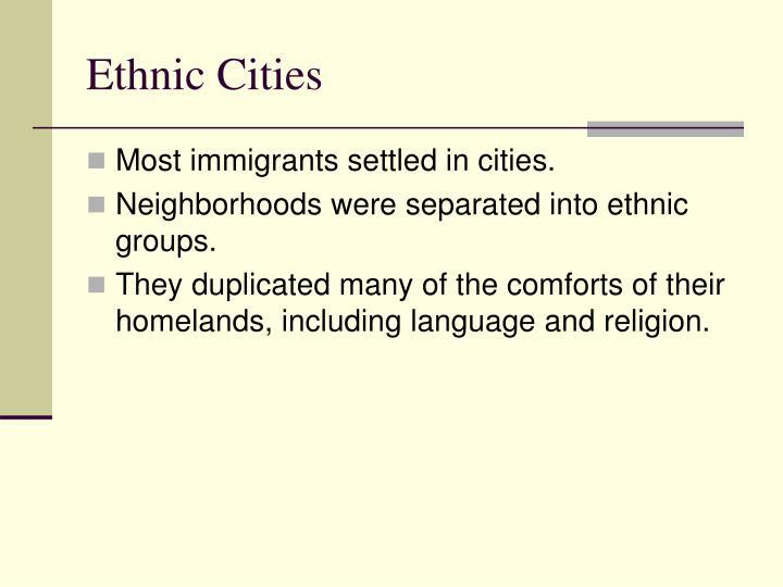 Ethnic Cities