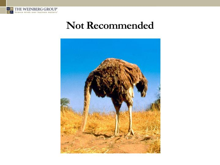 Not Recommended