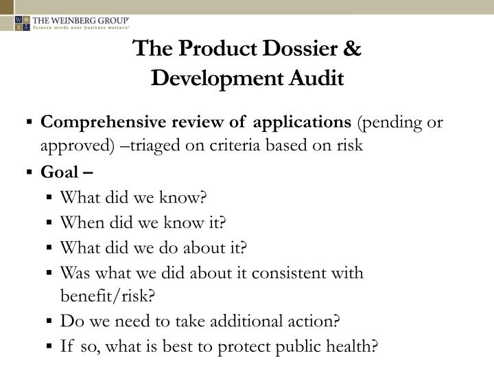 The Product Dossier &