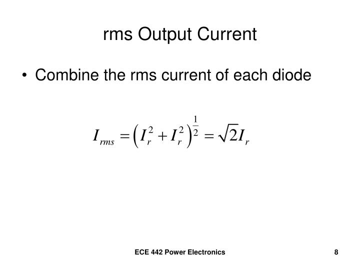 rms Output Current