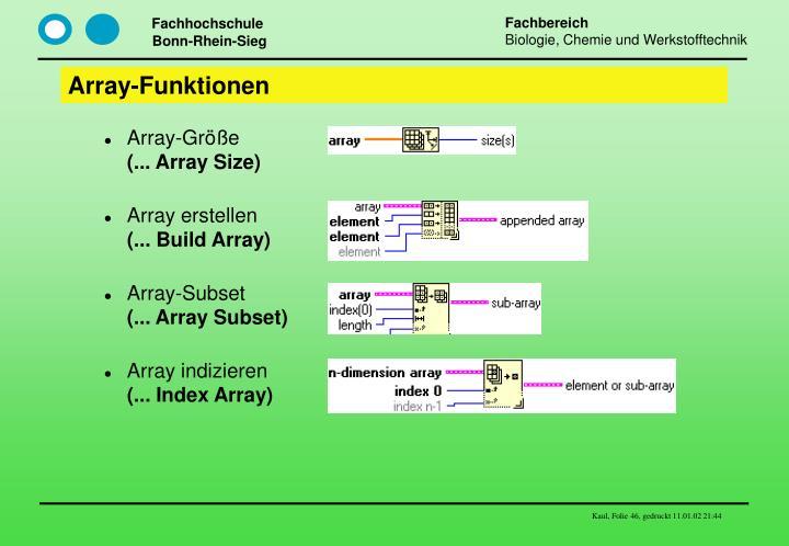 Array-Funktionen