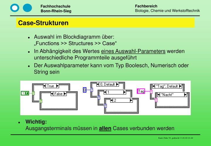 Case-Strukturen