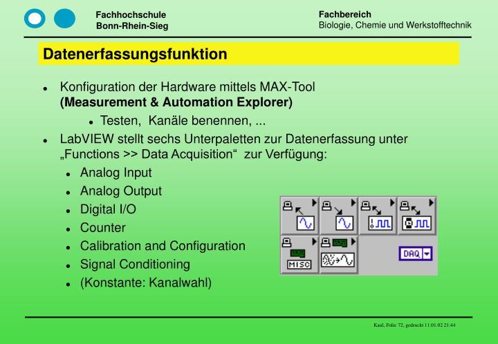 Datenerfassungsfunktion