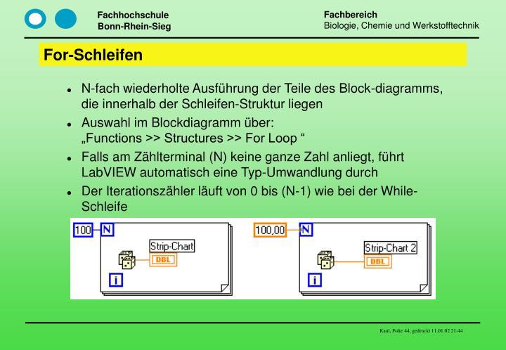 For-Schleifen