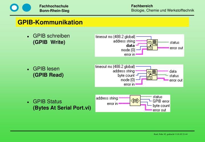 GPIB-Kommunikation