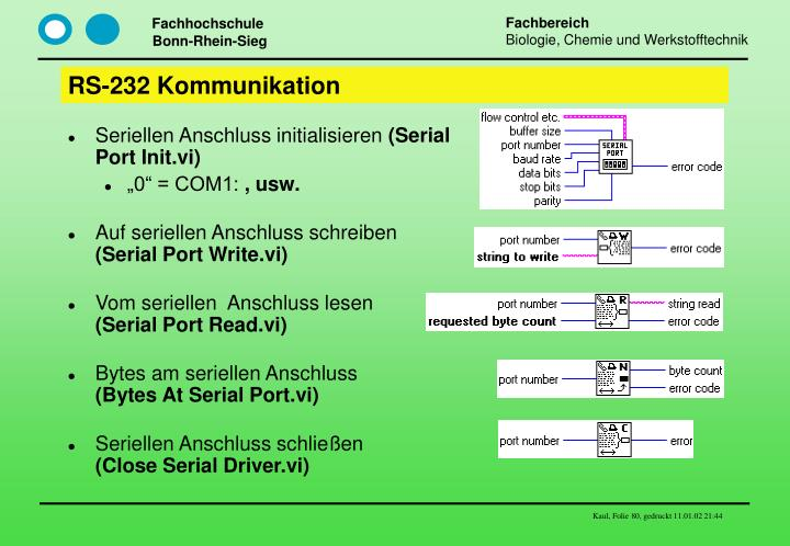 RS-232 Kommunikation