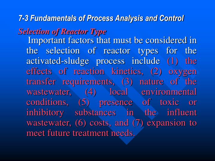 7-3 Fundamentals of Process Analysis and Control