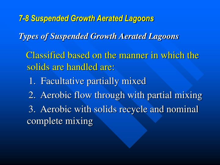 7-8 Suspended Growth Aerated Lagoons