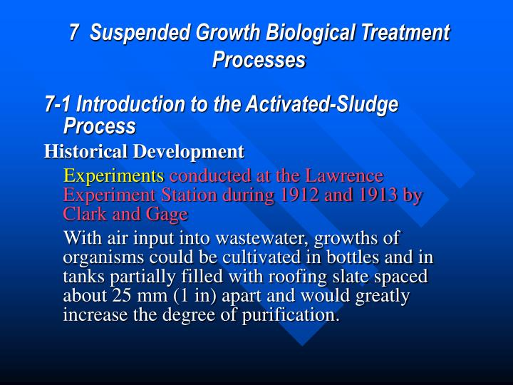 7  Suspended Growth Biological Treatment Processes