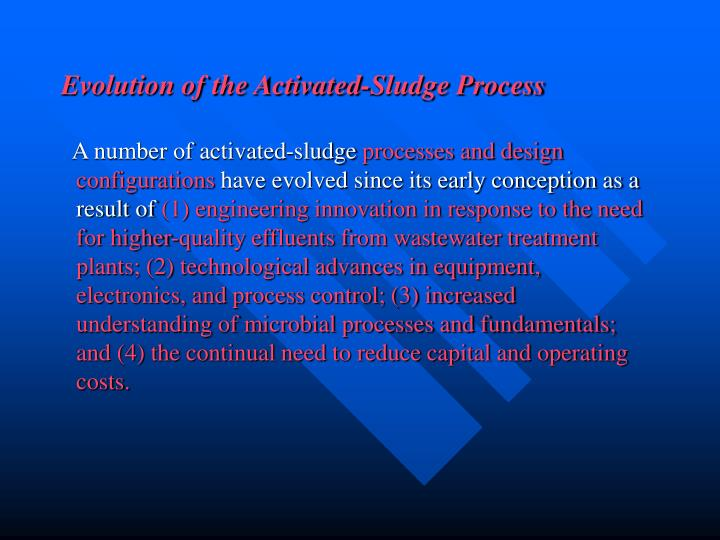 Evolution of the Activated-Sludge Process