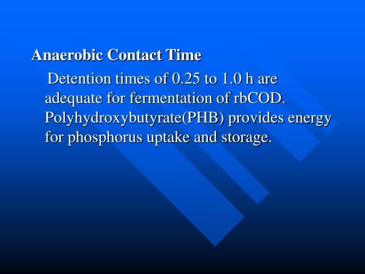 Anaerobic Contact Time