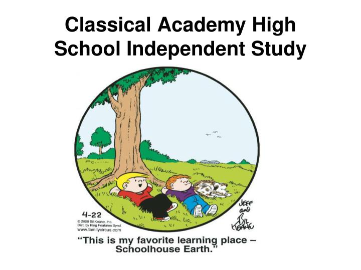 classical academy high school independent study