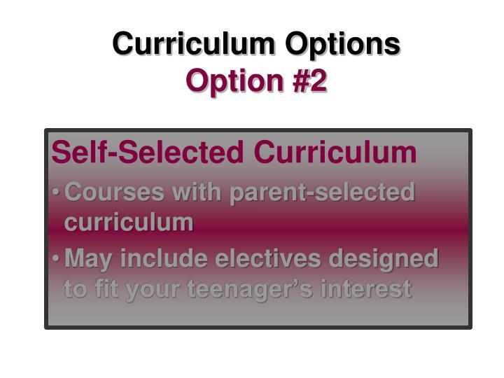 Curriculum Options