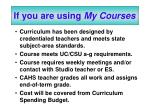 if you are using my courses