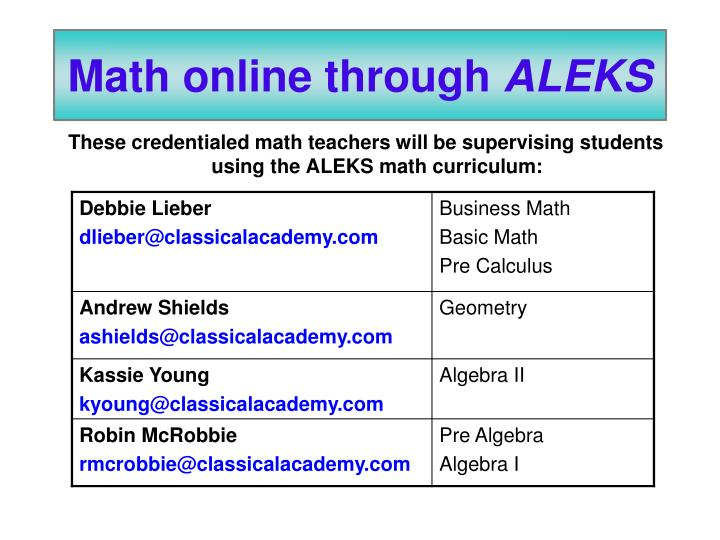 Math online through