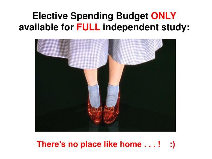 Elective Spending Budget