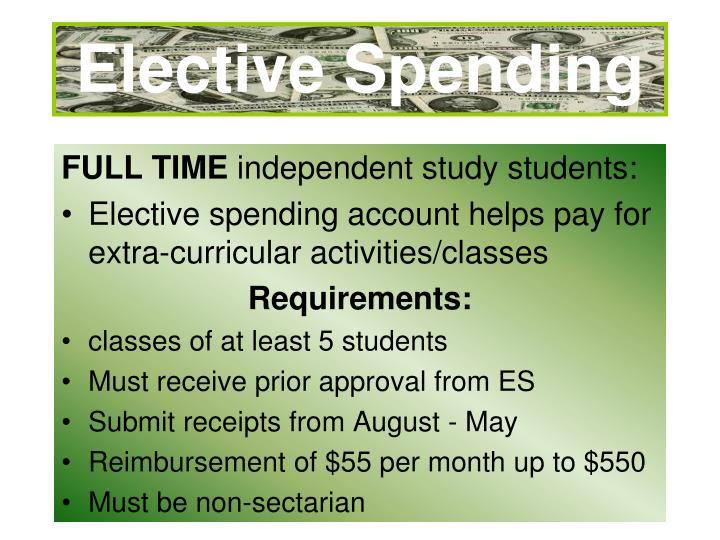 Elective Spending