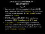 arteripatie obliteranti periferiche aop