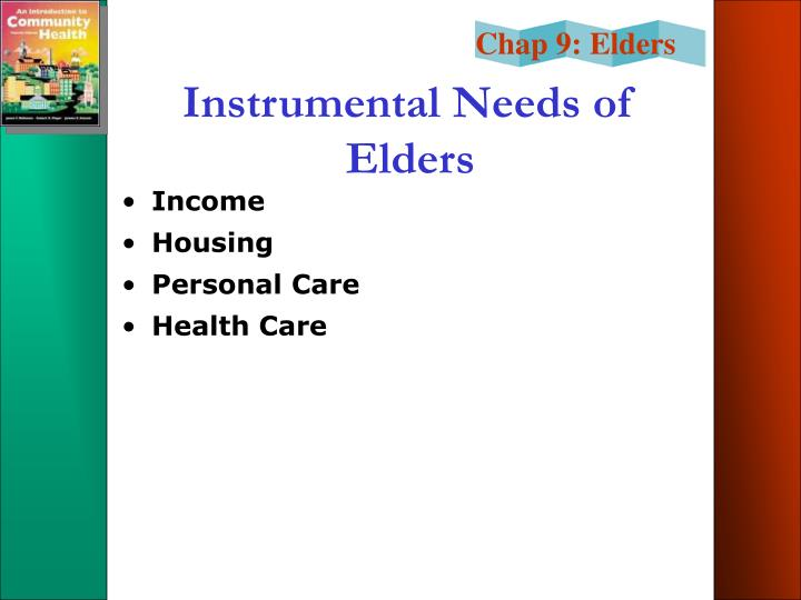 Instrumental Needs of Elders